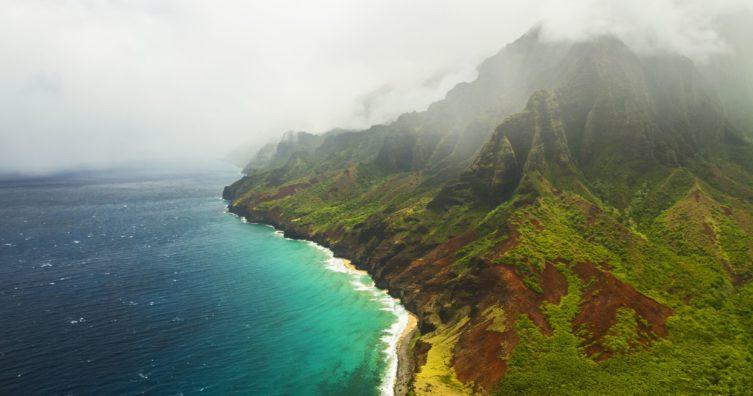 Clima en Kauai: clima, estaciones y temperaturas mensuales promedio