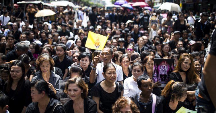 El período de luto de Tailandia